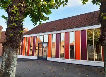 extension en bois école