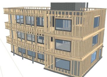 plan 3D bureau étude ossature bois