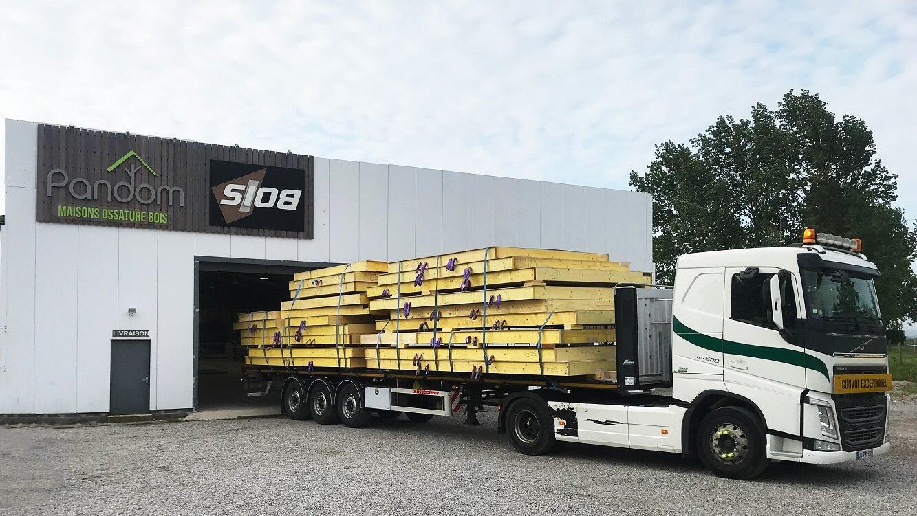 transport préfabriqués bois